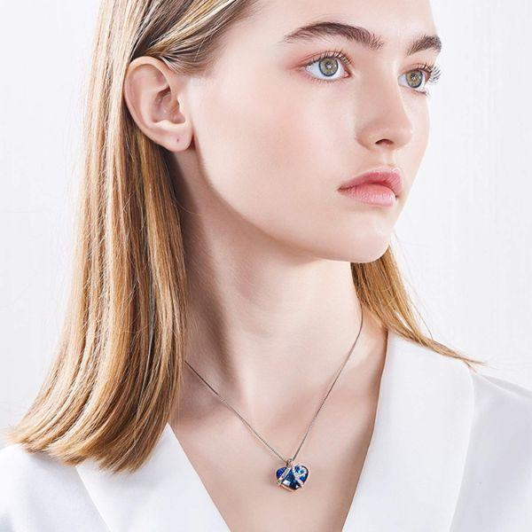 Titanic Heart Of The Ocean Sapphire Blue Swarovski Crystal Necklace Jewelry - DailySale