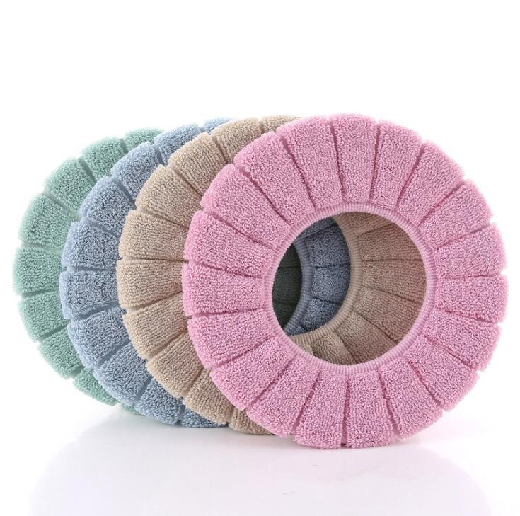 Toilet Seat Soft Thick Washable Cover Pad Protector Bath - DailySale
