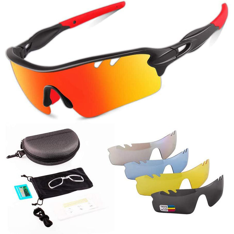 Toneoesol Polarized Sports Sunglasses with 5 Interchangeable Lenses Sports & Outdoors - DailySale