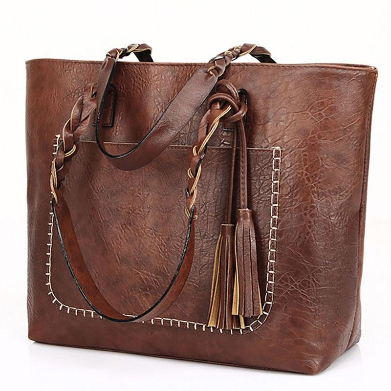 Tote Vintage Faux Women Leather Handbag Handbags & Wallets - DailySale
