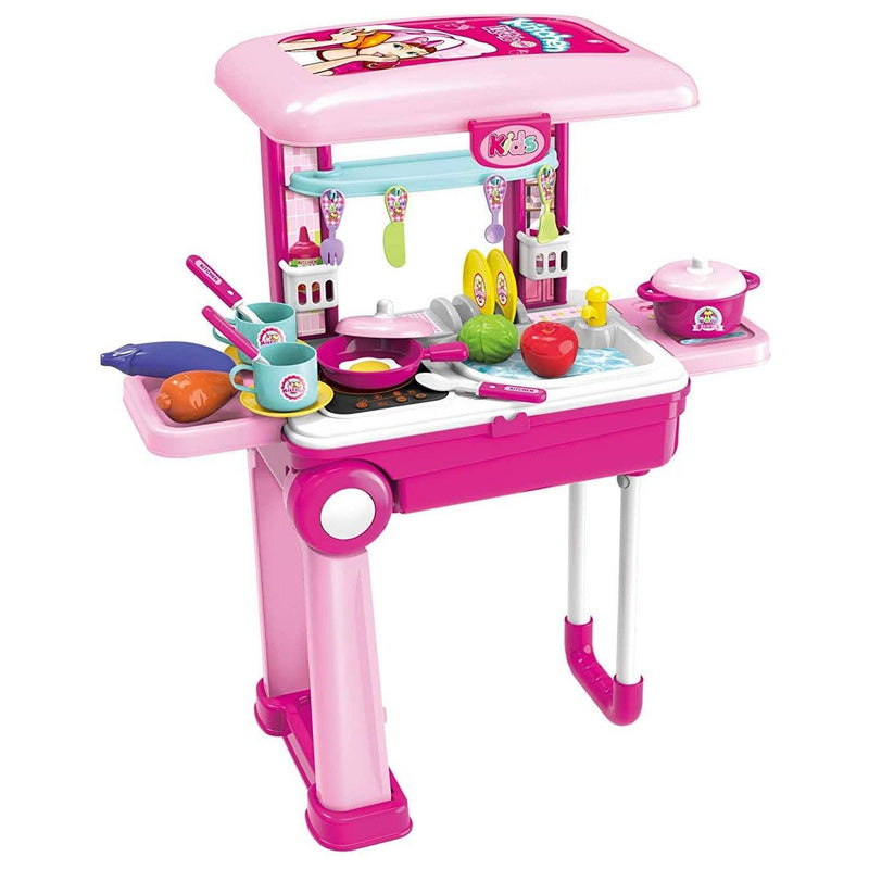 Toy Chef 2-in-1 Travel Suitcase Kitchen Set for Children Toys & Games - DailySale