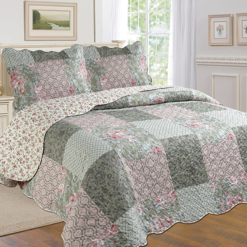 Tradition Premium Printed Reversible Quilt Sets - Assorted Styles Bedding Patchwork Twin - DailySale
