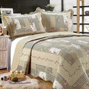 Tradition Premium Printed Reversible Quilt Sets Linen & Bedding Beige Twin - DailySale