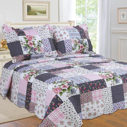 Tradition Premium Printed Reversible Quilt Sets Linen & Bedding Pink Twin - DailySale