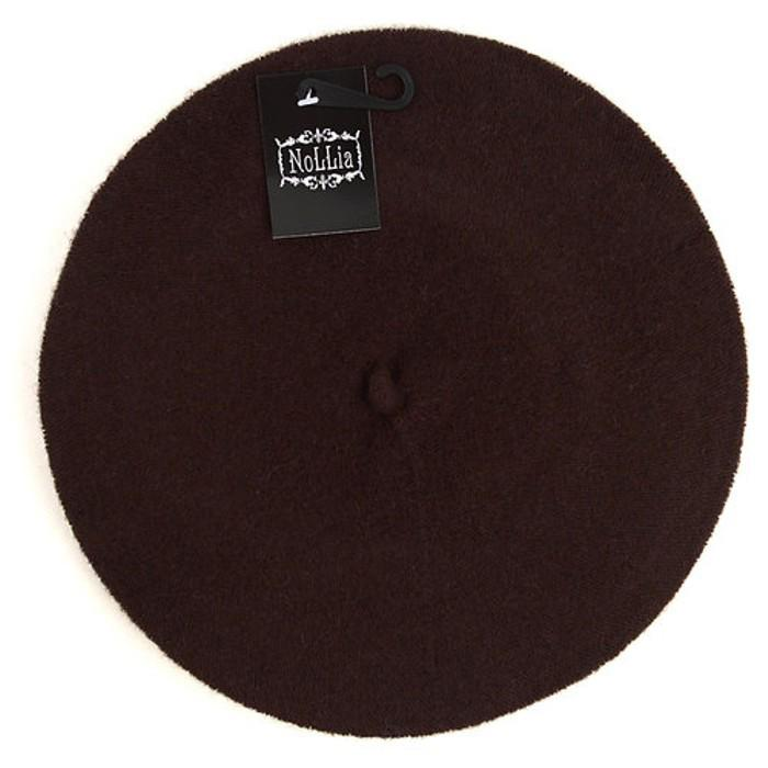 Traditional Women's Men's Solid Color Plain Wool French Beret One Size Women's Apparel Brown - DailySale