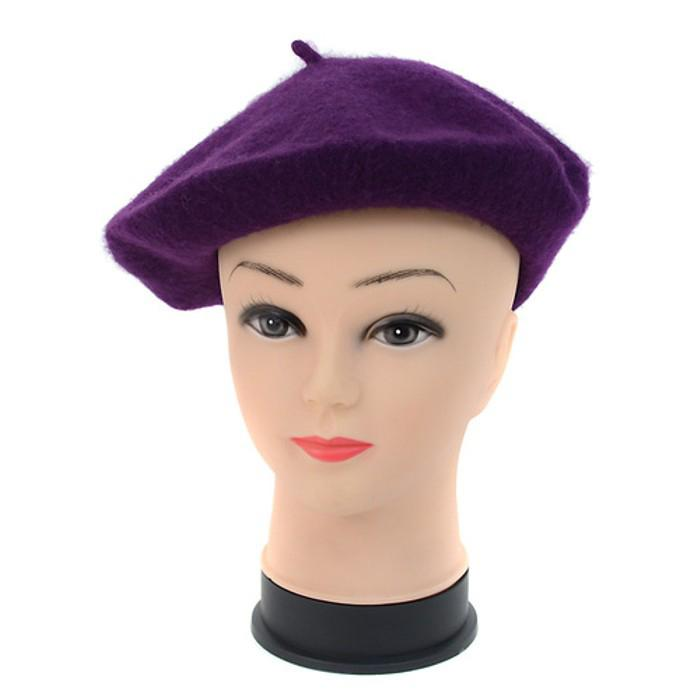 Traditional Women's Men's Solid Color Plain Wool French Beret One Size Women's Apparel - DailySale