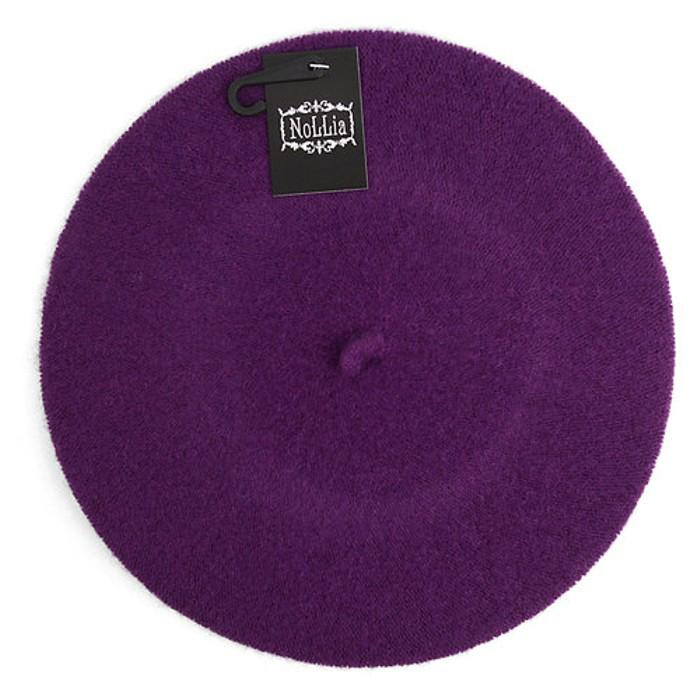 Traditional Women's Men's Solid Color Plain Wool French Beret One Size Women's Apparel Purple - DailySale