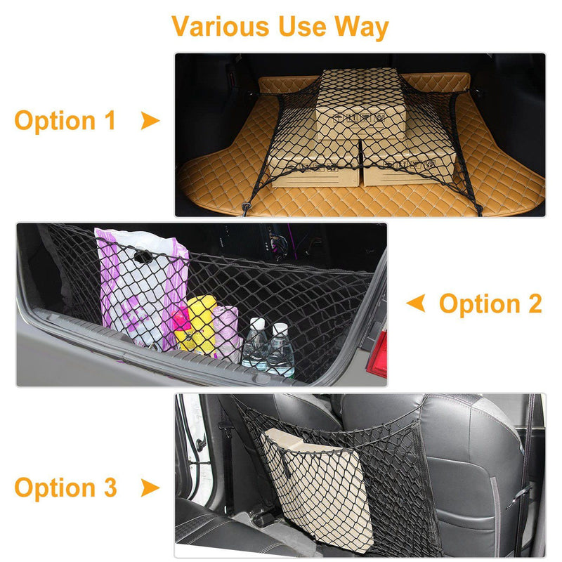 Trunk Cargo Net Stretchable Universal Automotive - DailySale