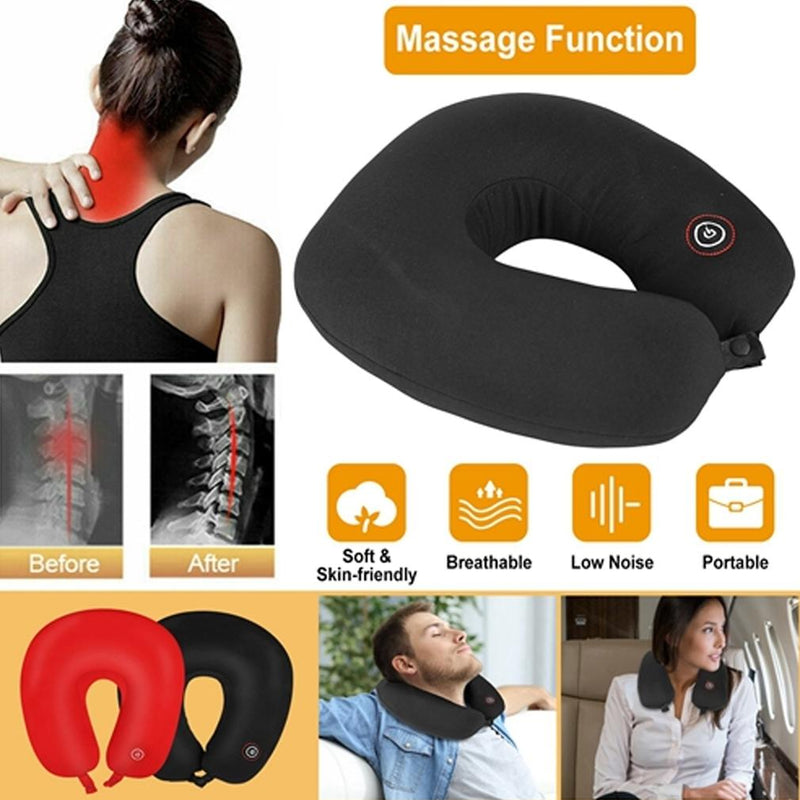 U-Shaped Massage Travel Neck Pillow Wellness & Fitness - DailySale