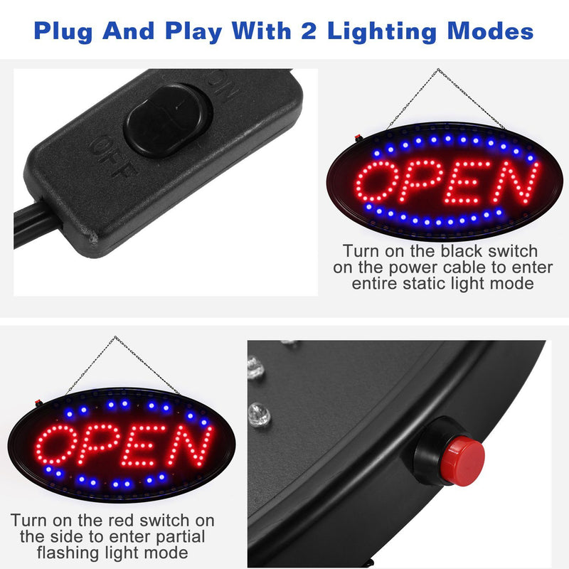 Ultra Bright LED Neon Open Sign Everything Else - DailySale