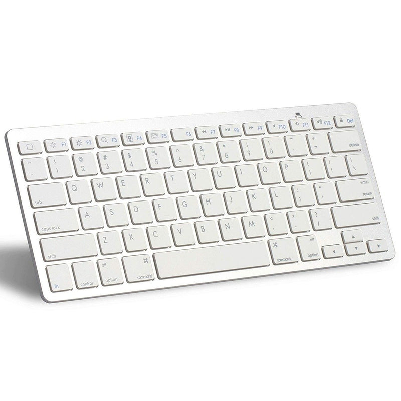 Ultra-Slim Bluetooth Keyboard - Assorted Colors Tablets & Computers White - DailySale