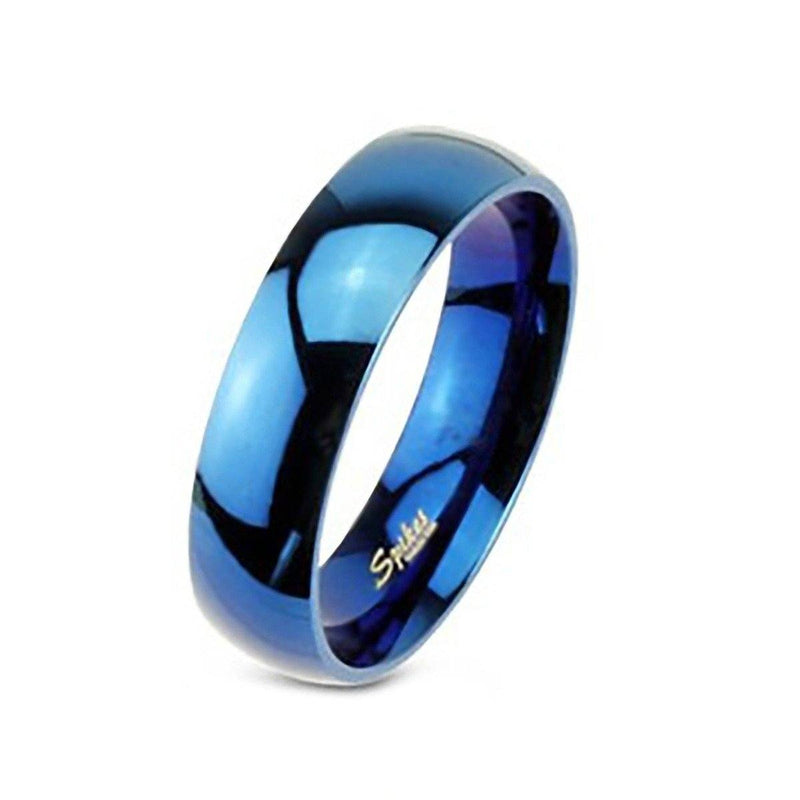 Unisex 316L Stainless Steel Ring - Assorted Colors and Sizes Men's Apparel 6 Blue - DailySale