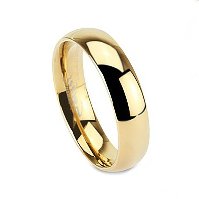 Unisex 316L Stainless Steel Ring - Assorted Colors and Sizes Men's Apparel 7 Gold - DailySale
