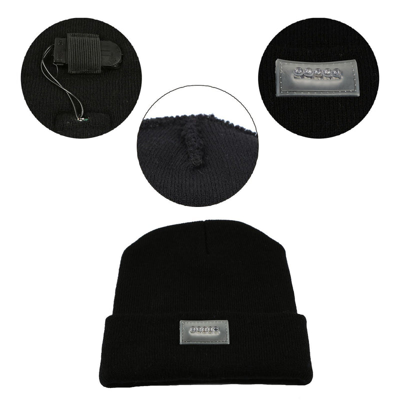 Unisex 5 LED Knitted Beanie Winter Warm Hat Men's Accessories - DailySale