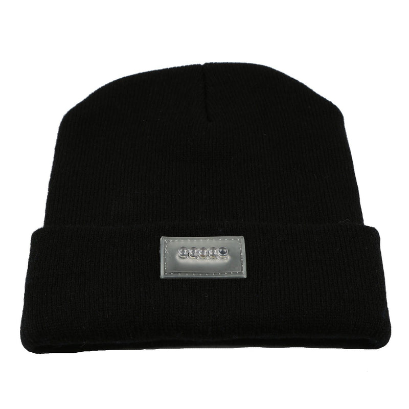 Unisex 5 LED Knitted Beanie Winter Warm Hat