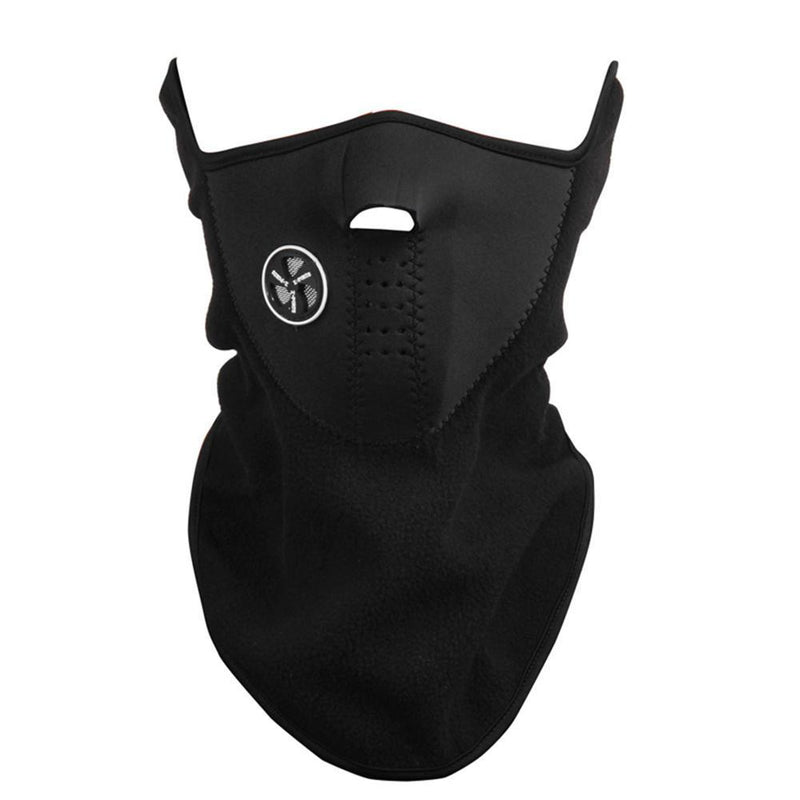 Unisex Anti Cold Fleece Ski Mask Sports & Outdoors Black - DailySale