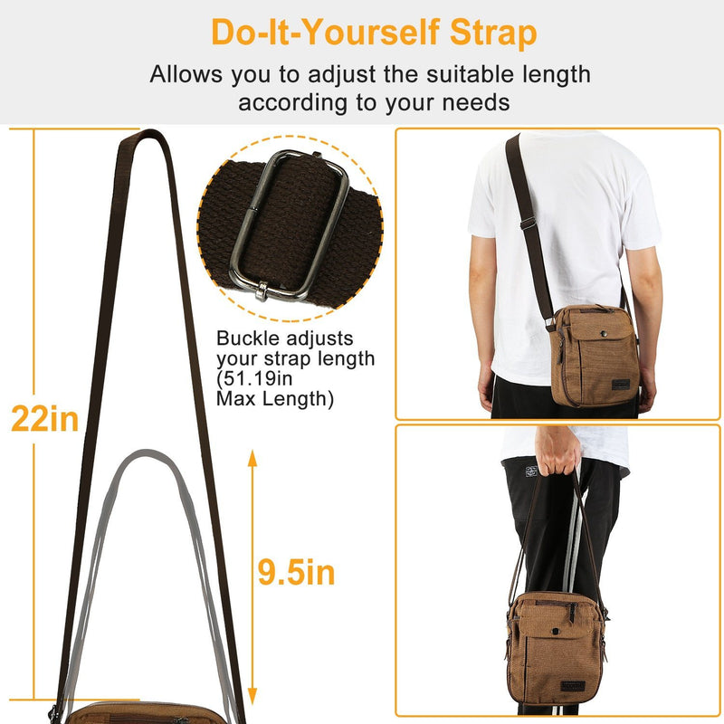 Unisex Crossbody Bags Canvas Bags & Travel - DailySale