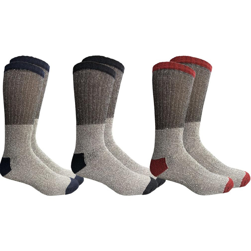 Unisex Insulated Thermal Cotton Cold Weather Crew Socks Women's Apparel 3 Pack - DailySale
