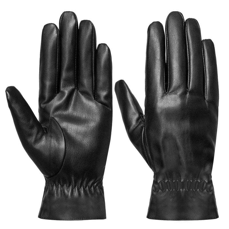 Unisex Leather Winter Warm Gloves Women's Accessories M - DailySale