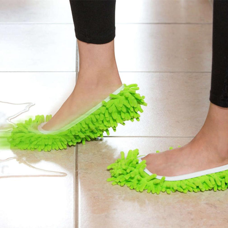 Unisex Super-Fun Machine-Washable Mop Slippers Home Essentials - DailySale