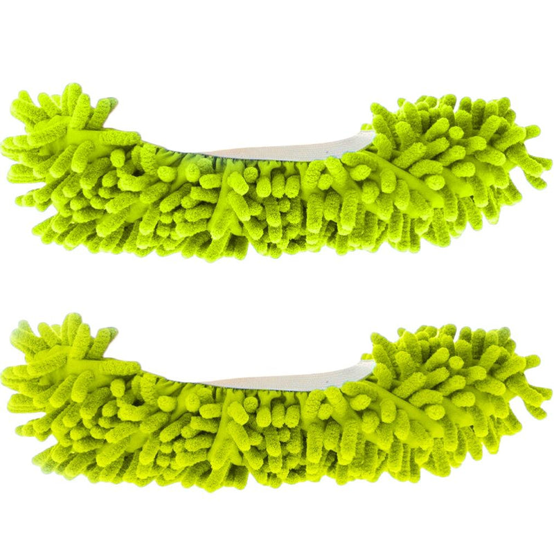 Unisex Super-Fun Machine-Washable Mop Slippers Home Essentials Green - DailySale