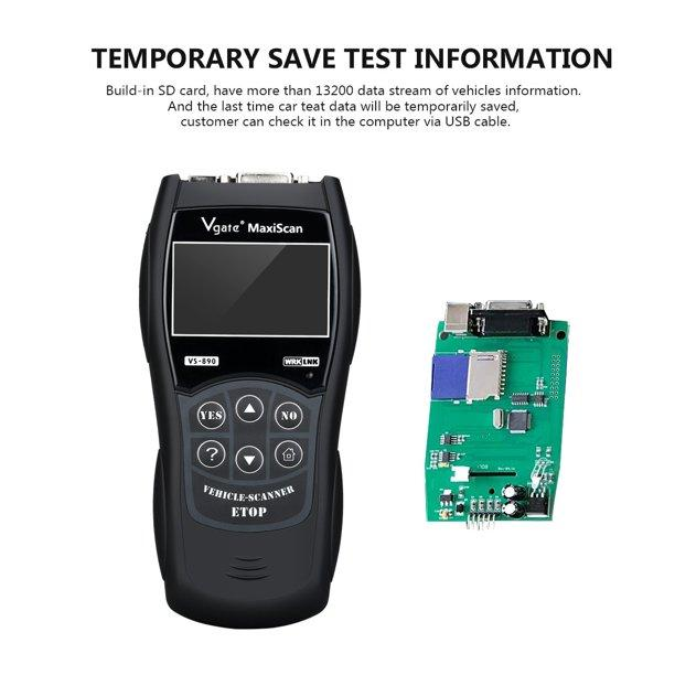 Universal Car Fault Reader Code Scanner Diagnostic Tool OBD 2 SCAN Reset Tool Automotive - DailySale