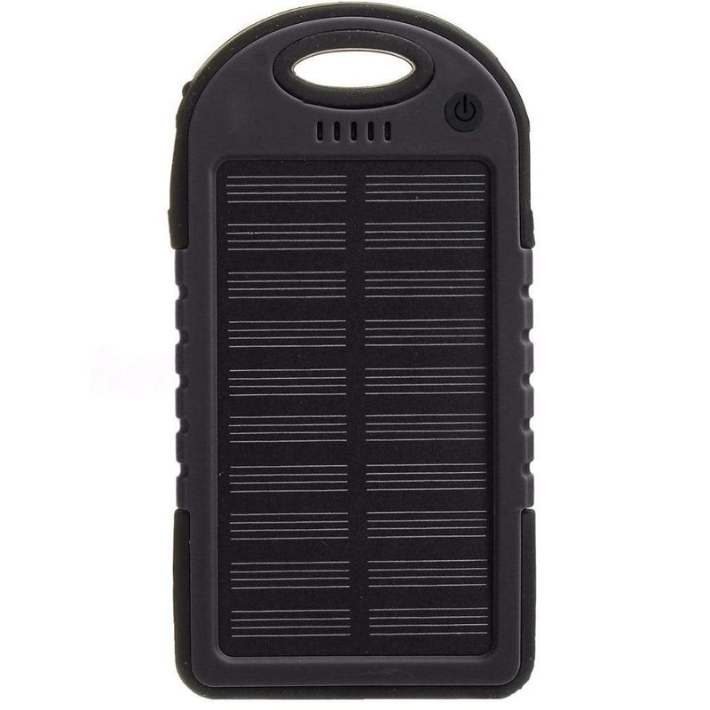 Universal Waterproof Solar Charger Phones & Accessories Black 1 Pack - DailySale