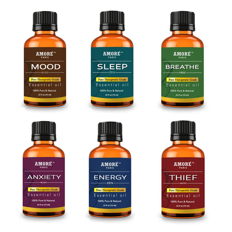 6-Piece: Aromatherapy Therapeutic Grade Essential Oils Gift Set - DailySale, Inc