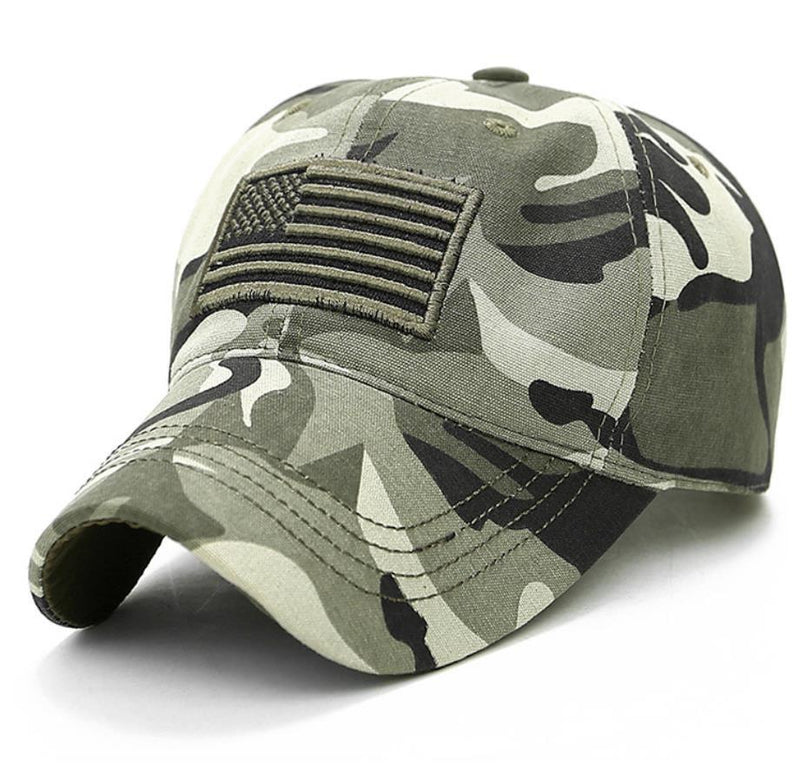 USA Flag Baseball Cap Army Embroidery Cotton Tactical Snapback Hat Men's Accessories Camo - DailySale