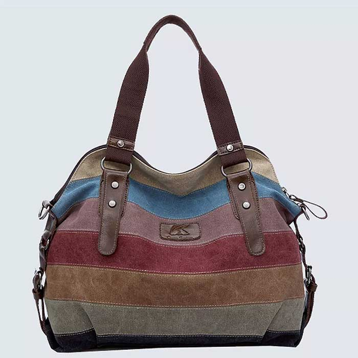 Valencia Canvas Shoulder Bag - DailySale, Inc