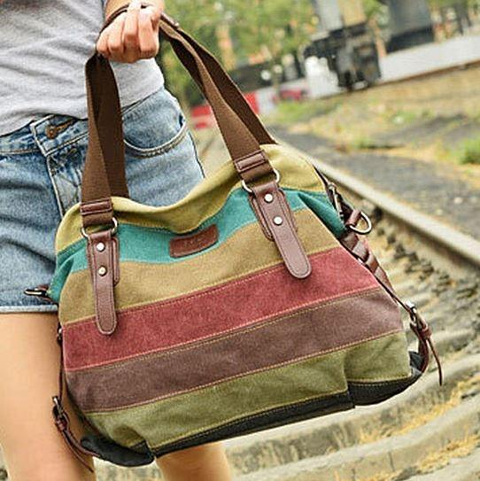 Valencia Canvas Shoulder Bag Handbags & Wallets - DailySale