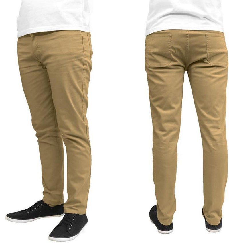 Galaxy by Harvic Men's Slim Fit Cotton Stretch Chinos - Assorted Colors and Sizes - DailySale, Inc