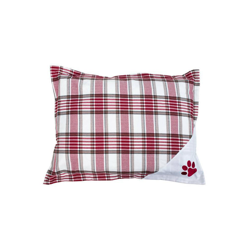 Wags 'N Whiskers Orthopedic Pet Bed Pillow - Assorted Styles Pet Supplies White Red - DailySale