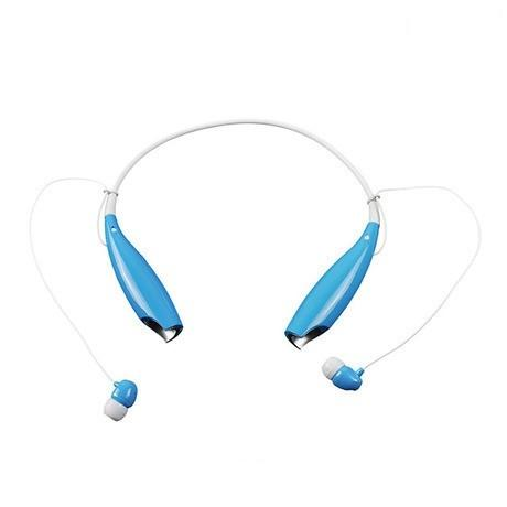 Water-Resistant Behind-the-Neck Bluetooth Stereo Headset - Assorted Colors Headphones & Speakers Blue - DailySale