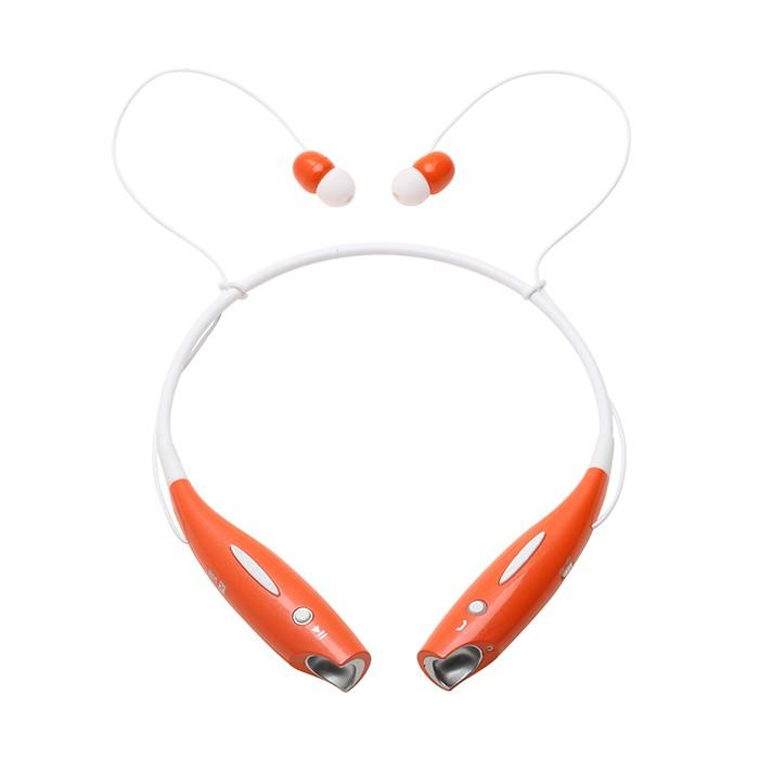 Water-Resistant Behind-the-Neck Bluetooth Stereo Headset - Assorted Colors Headphones & Speakers Orange - DailySale