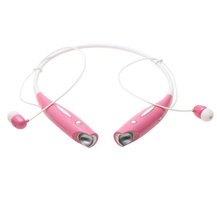 Water-Resistant Behind-the-Neck Bluetooth Stereo Headset - Assorted Colors Headphones & Speakers Pink - DailySale
