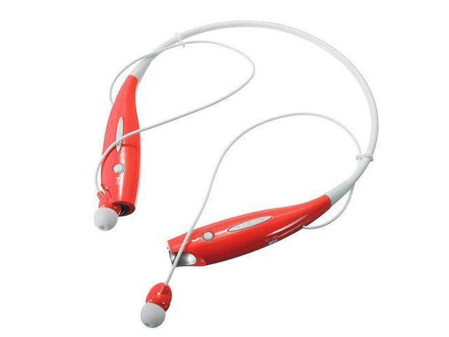 Water-Resistant Behind-the-Neck Bluetooth Stereo Headset - Assorted Colors Headphones & Speakers Red - DailySale