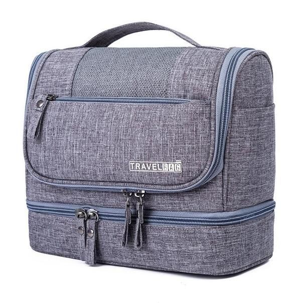 Waterproof Hanging Travel Toiletry Bag - Assorted Colors Beauty & Personal Care Gray - DailySale