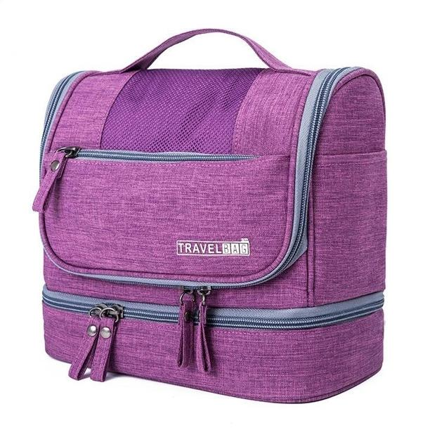 Waterproof Hanging Travel Toiletry Bag - Assorted Colors Beauty & Personal Care Purple - DailySale