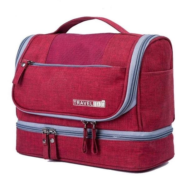 Waterproof Hanging Travel Toiletry Bag - Assorted Colors Beauty & Personal Care Red - DailySale