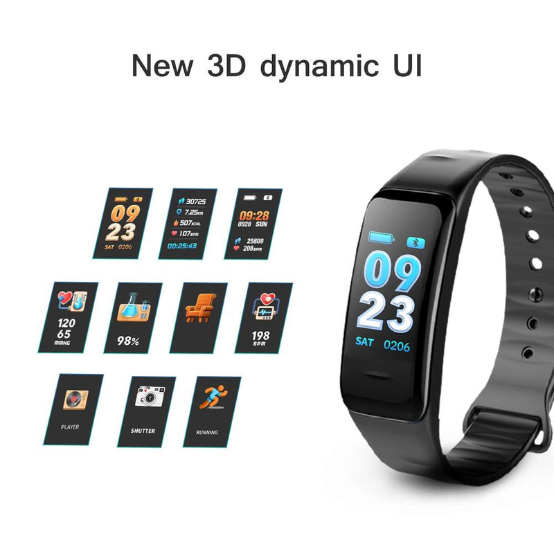 Waterproof Smart Wristband Watch Fitness Activity Tracker Wellness & Fitness - DailySale