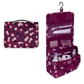 Waterproof Travel Toiletry Bag - Assorted Colors Beauty & Personal Care Burgundy Flower - DailySale