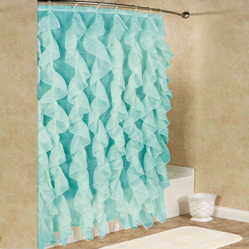 Westendorf Cascading Waterfall Single Shower Curtain Bed & Bath Aqua - DailySale
