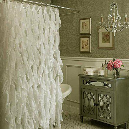 Westendorf Cascading Waterfall Single Shower Curtain Bed & Bath Ivory - DailySale