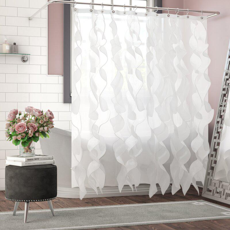 Westendorf Cascading Waterfall Single Shower Curtain Bed & Bath White - DailySale