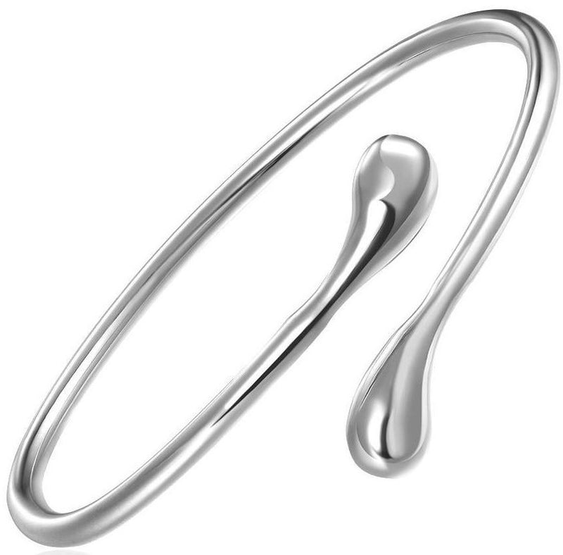 Teardrop Bangle in Sterling Silver - DailySale, Inc