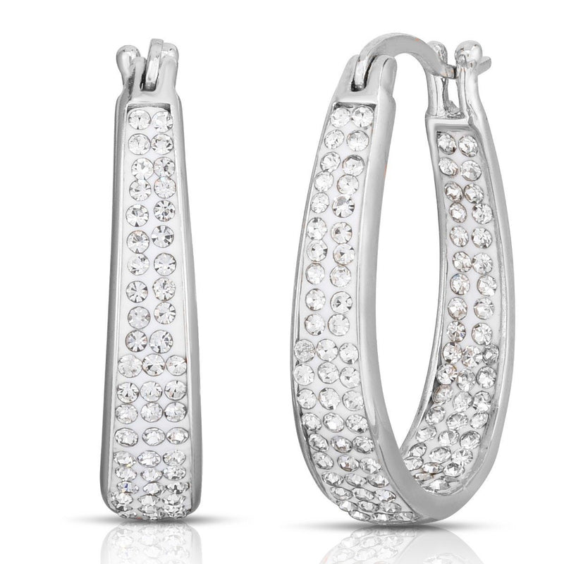 White Inside Out Hoops with Free 2.00 CT Studs Jewelry - DailySale