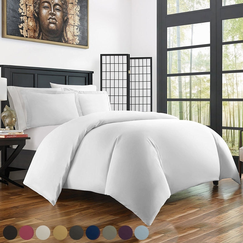 Bamboo Duvet Cover Set - Hypoallergenic - Assorted Sizes and Colors - DailySale, Inc