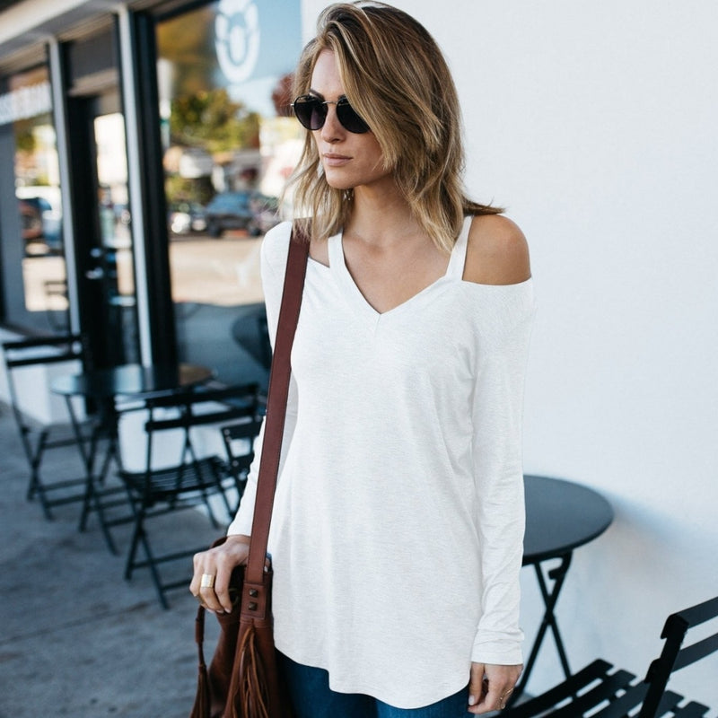 Cut Loose Long Sleeve Shirt - DailySale, Inc