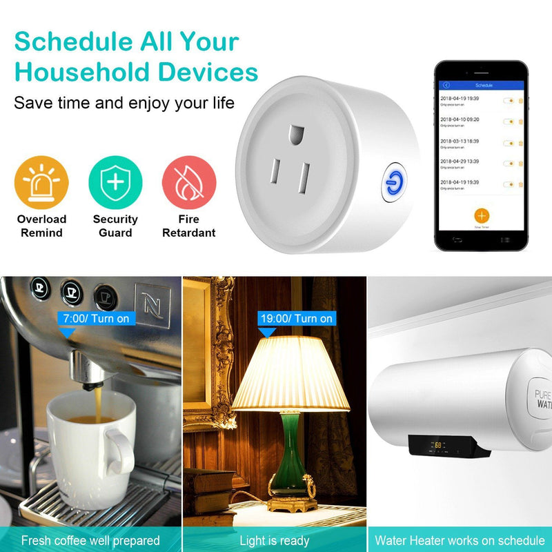 WiFi Smart Socket APP Plug Outlet Remote Household Batteries & Electrical - DailySale